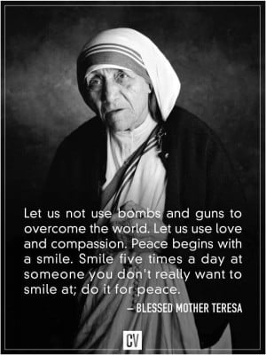 Amen, Mother Teresa! Your legacy lives on. :))