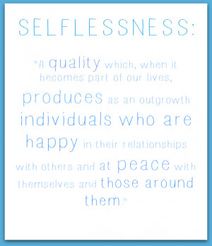 selflessness quote
