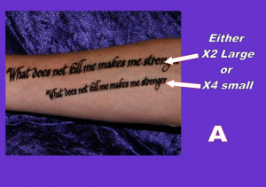 ... Inner ARM Forearm Personalised Your OWN Quote Custom Made VDaHFT7F