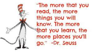 Dr. Seuss Quotes About Reading Easy dr seuss tee for read