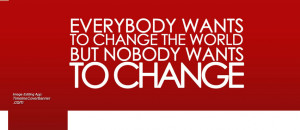 Change the world quotes Facebook cover