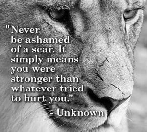 ... . It simply means you were stronger than whatever tried to hurt you