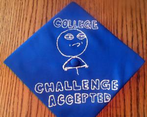 creative graduation cap college accepted meme