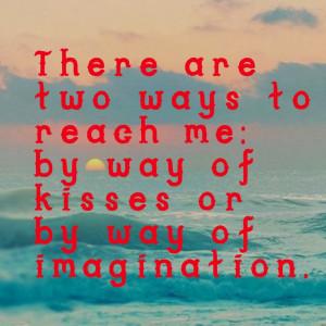 Anais Nin on kisses and imagination