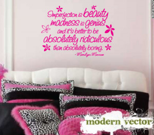 Details about Marilyn Monroe Quote Livingroom Vinyl Wall Quote Decal