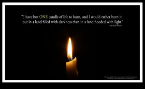 candle burning poster i have but one candle of life to burn and i ...