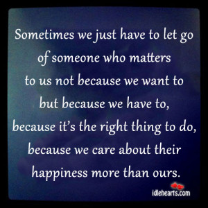 Sometimes You Just Have to Let Go
