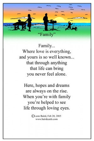 morning! Today is Family Friday. I have chosen to write about family ...