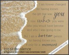 ... Silence of Miscarriage, Stillbirth, Infant Death and Neonatal Death