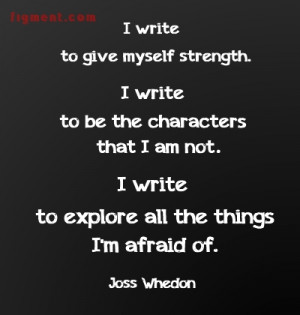 Writing Inspiration from Joss Whedon and Figment.com