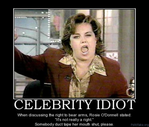 ... proved beyond a doubt what an idiot she is and has been all her life