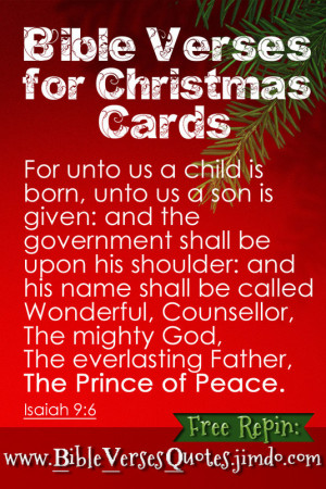 BIBLE VERSES FOR CHRISTMAS CARDS - http://bibleversesquotes.jimdo.com