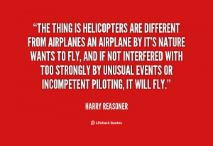 Harry Reasoner Helicopter Quote
