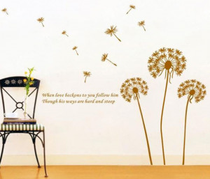Love-Flying-Dandelion-Wall-Stickers-Inspirational-Quotes-Love-Nursery ...
