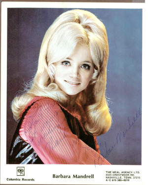 Barbara Mandrell Country Singer Vintage Signed 8 X 10 Color Photo ...