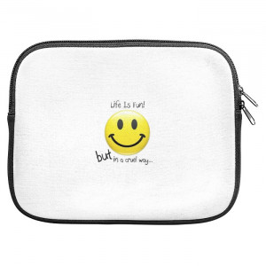 Life Quotes Smiley Zipper Pouch