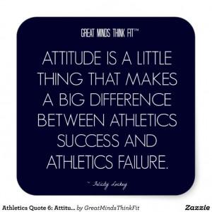 Athletics #Quote 6: Attitude for Success #Sticker