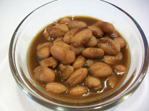 Cooked pinto beans with 2-3 c. cooking water 1 veggie bouillon ...