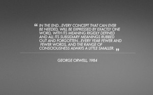 minimalistic text quotes 1984 george orwell grey background Abstract ...