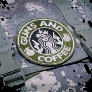 ... Tactical Guns and Coffee Velcro Morale Military starbucks Patch