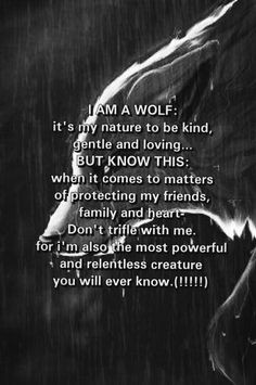 Lone Wolf Sayings Wolf quote. true :3