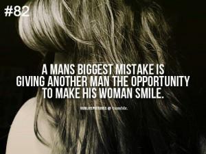 man's biggest mistake