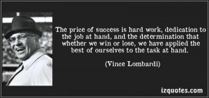 Quote On Dedication And Hard Work