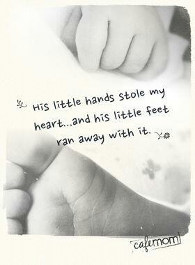 Tattoo idea! With hand print and foot print!: Baby Quotes, Mothers ...
