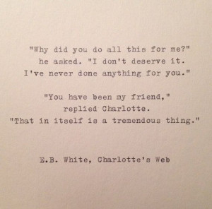 White Friend Quote Hand Typed on Vinatge Typewriter by farmnflea ...