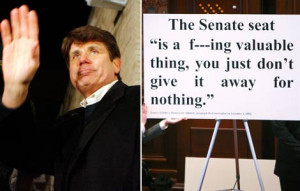 Rod Blagojevich waves to supports. Left: A quote from a taped ...