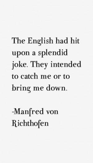 Manfred von Richthofen Quotes & Sayings