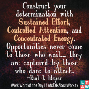 Construct your determination with Sustained Effort Controlled