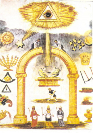 Masonic Arc and all seeing eye