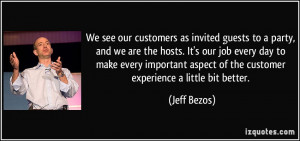 and we are the hosts. It's our job every day to make every important ...