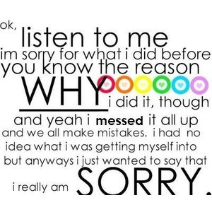 cute im sorry quotes for him under apology quotes