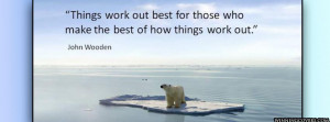 Global Warming Polar Bear Inspirational Quote Timeline Cover picture