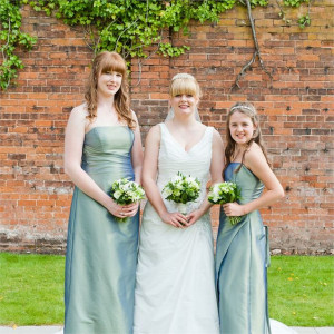 Helen & William's Real Wedding - The Bride with her Bridesmaids