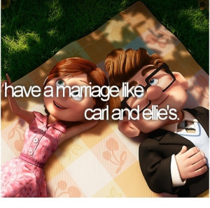 have a marriage like carl and ellie's