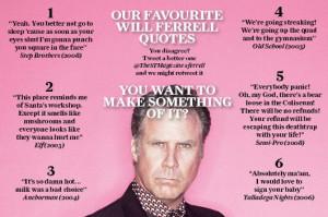 Funny Will Ferrell Mirror Quote
