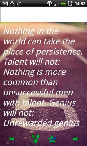 ... in the World Can take the place of persistence – Baseball Quote