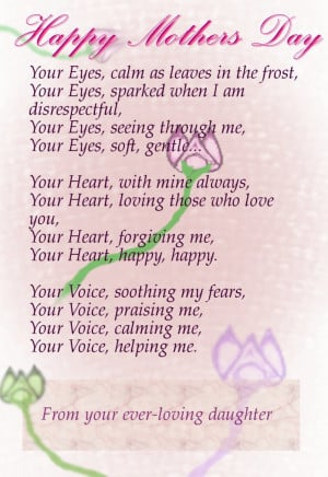 Mother Day Poem Light