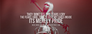 nicki minaj merely pride quote nicki minaj lookin sideways quote