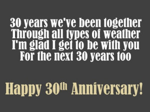 30th Anniversary Wishes: Quotes, Poems and Messages