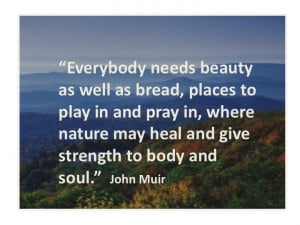 Nature - Quote from John Muir