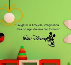 No Age, Dreams Are Forever. -Walt Disney Wall Art Inspirational Quotes ...