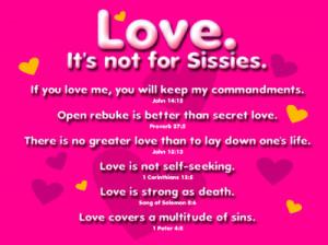 Love Not For Sissies Clip Art
