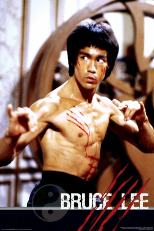 Bruce Lee - Fight Scratches Poster
