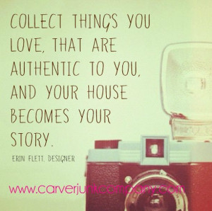 Vintage Love Quotes Collect things you love,