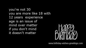 sayings 30th birthday for him