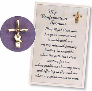 Item #37283 - My Confirmation Sponsor Pin & Gift Card